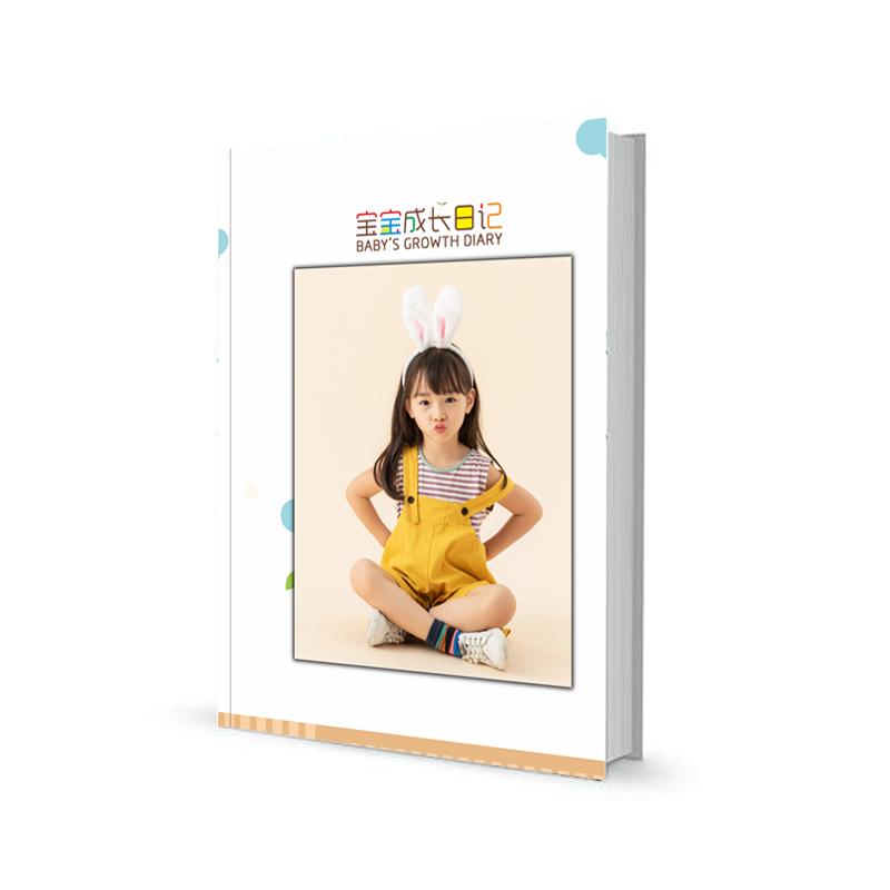 12寸宝宝成长册家庭照片书定制相册制作亲子照diy影集画册印刷精装