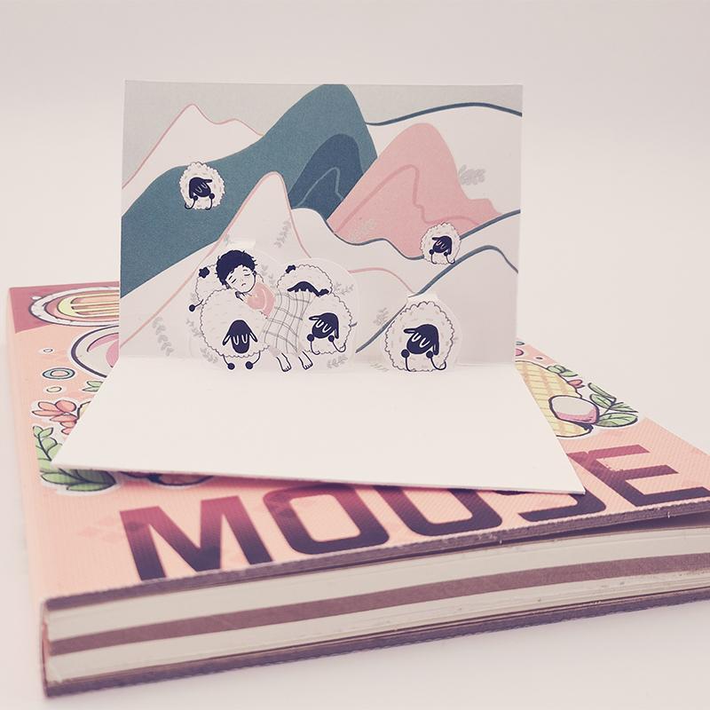 3d个性名片定制立体卡通创意手工订制白卡双面镂空DIY原创设计