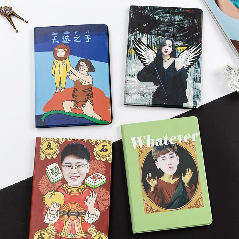 平板皮保护套iPad定制DIY照片卡通原创硅胶防滑趣味头像个性apple