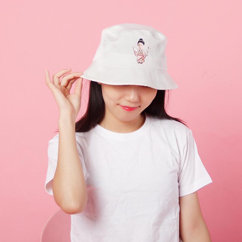夏季单品渔夫帽棉定制透气DIY个性照片旅游亲子帽卡通印logo头像